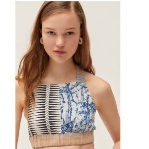 NWT Urban Outfitters multicolor crop top, medium